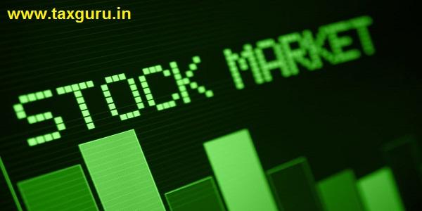 Stock Market - Column Going Down on Green Display