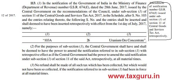 Amendment of notification no. GSR 674(E)