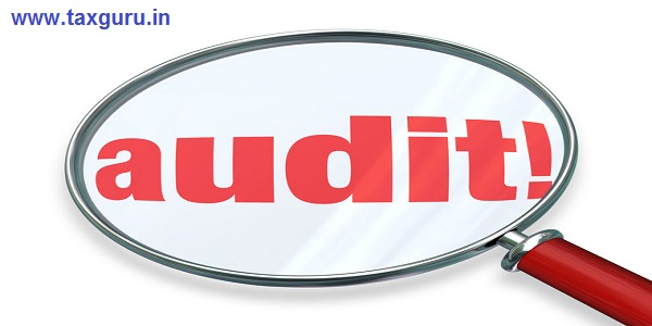 Audit word under magnifying glass