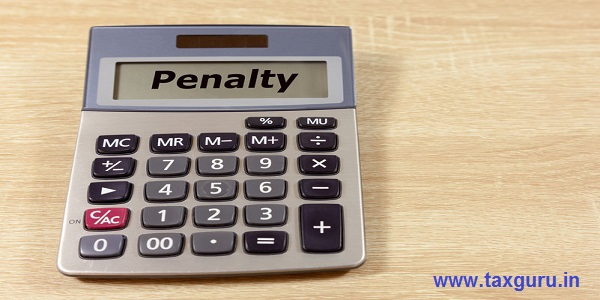 Calculator with the word Penalty