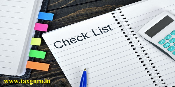 Check List text on notepad and hand calculator