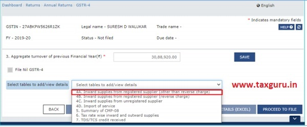 For knowing how to proceed to file and file the Form GSTR-4 Return online