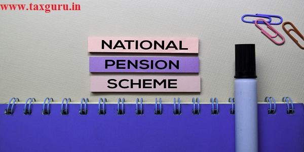 National Pension Scheme text on sticky notes isolated on office desk