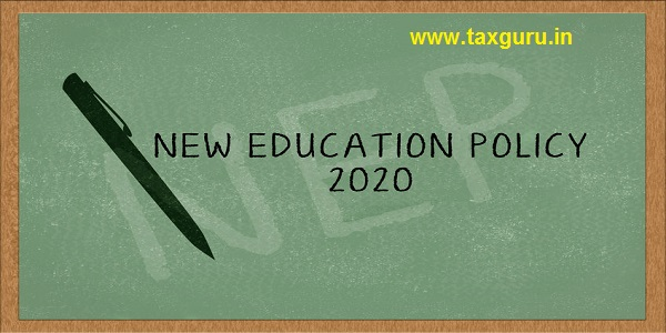 New education Policy 2020 on green chalk board with pen