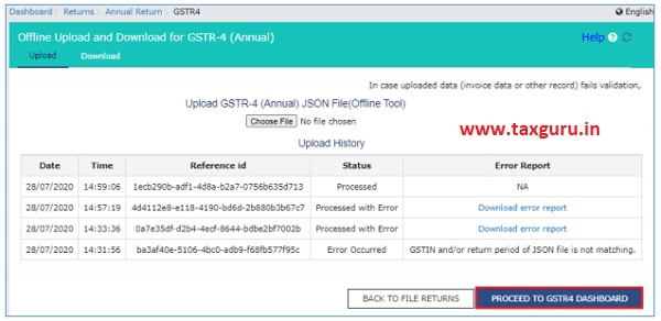 Preview Form GSTR-4 (Annual Return) on the GST Portal 1