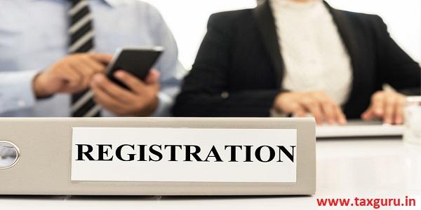Registration file on registration desk before meeting begin