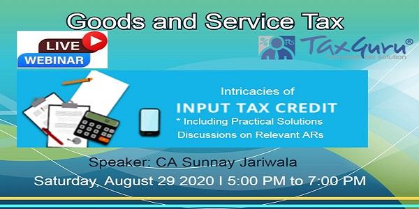 Taxguru GST Seminar CA Sunny Jariwala
