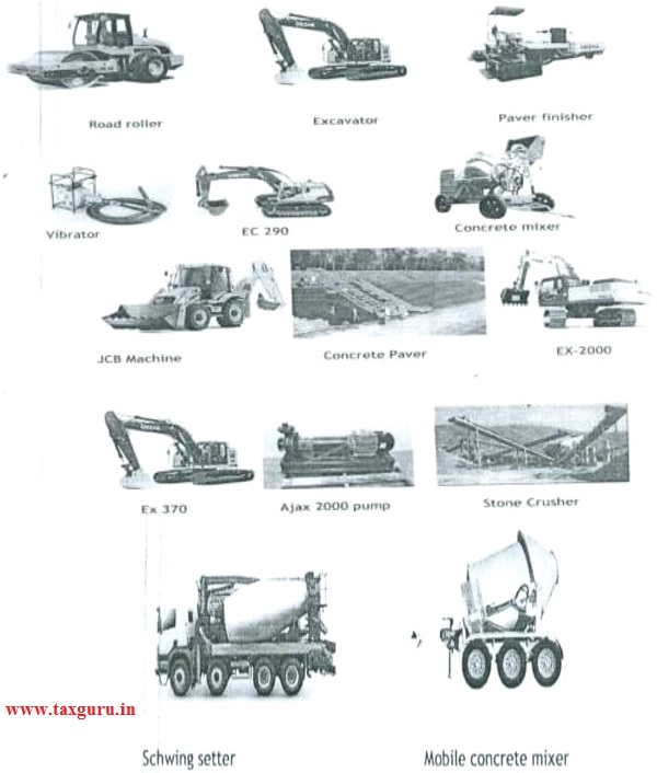 machineries or assets