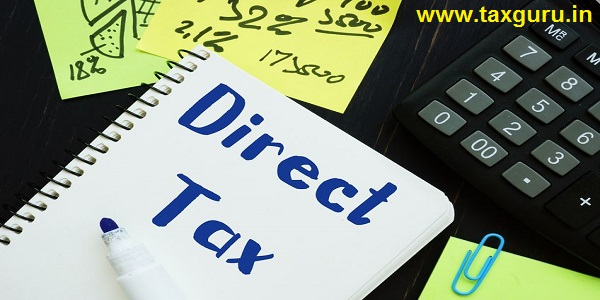 Business concept meaning Direct Tax with sign on the page