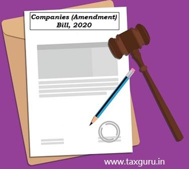 Companies (Amendment) Bill, 2020