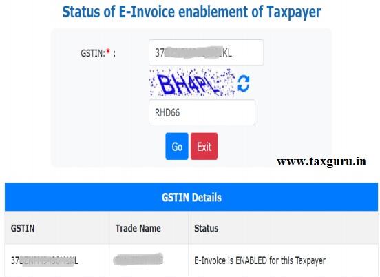 E-Invoice Status
