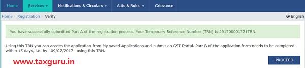 GST Registration - TRN