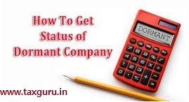 How to get status of Dormant company