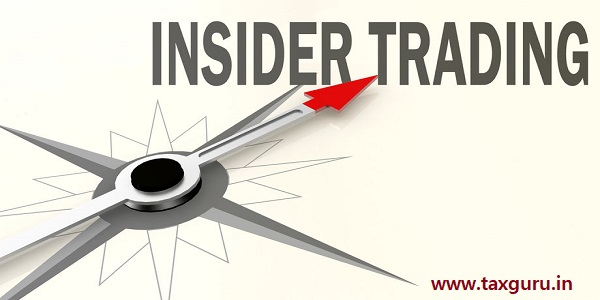 Insider trading word on compass with red arrow, 3D rendering