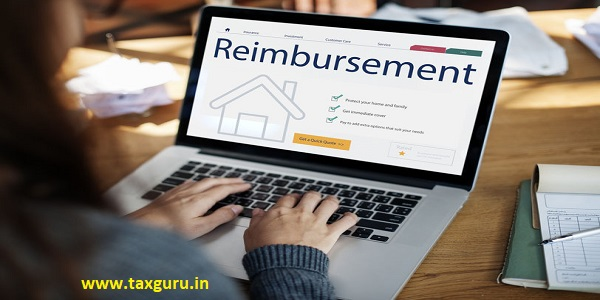 Laptop with house reimbursement concept