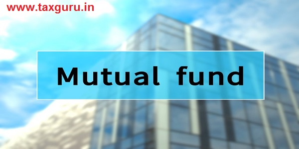 Mutual fund written on translucent blue space