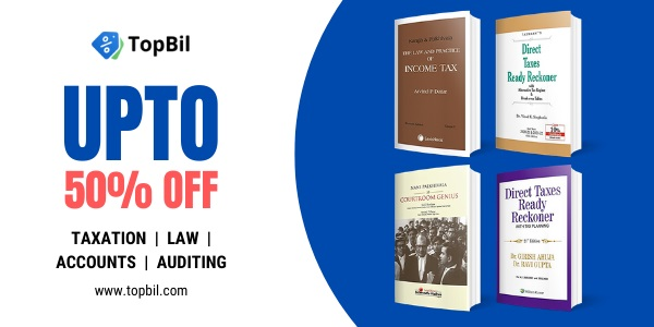 Topbil- Law and taxation books at 50% Discount