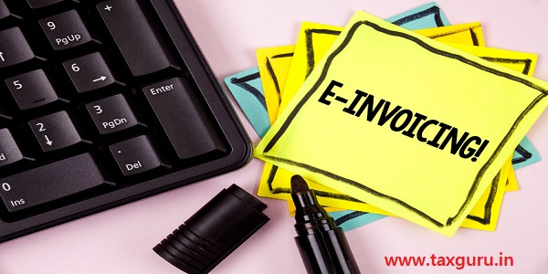 Word writing text E-Invoicing Motivational Call