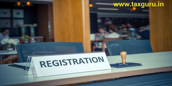 registration desk in conference center