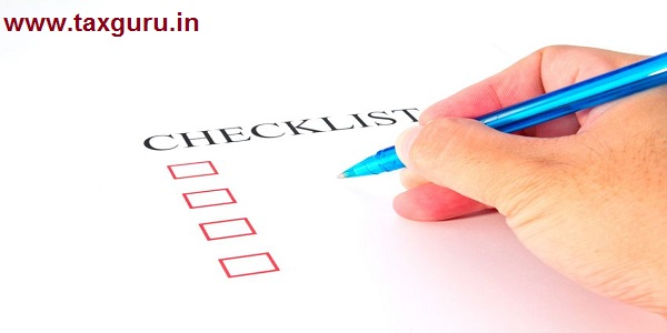 Checklist with pen and checked boxes