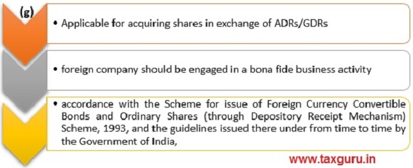 Conditions-acquiring shares in exchange of ADRs-GDRs