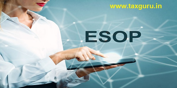 ESOP text with business woman using a tablet