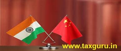 India Flag & Chinese flag