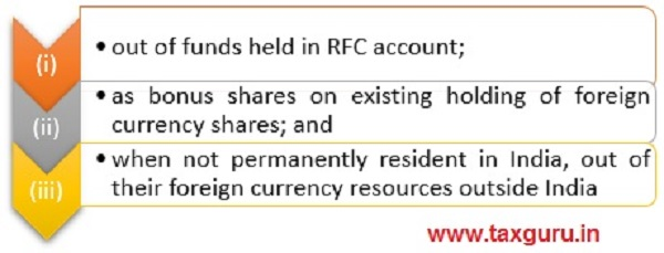 Method of Funding-General Permission For Person Resident In India For Such Investment