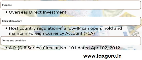 Opening of Foreign Currency Account abroad by an Indian Party