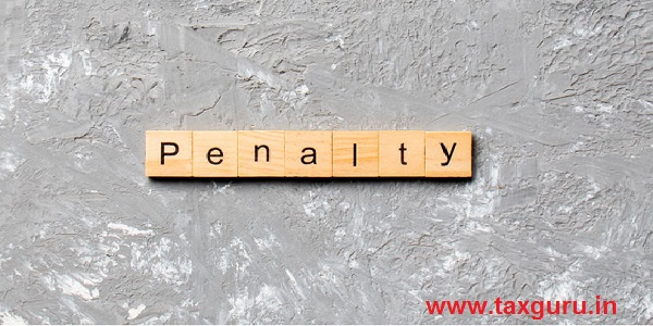PENALTY word written on wood block. PENALTY text on cement table for your desing, concept
