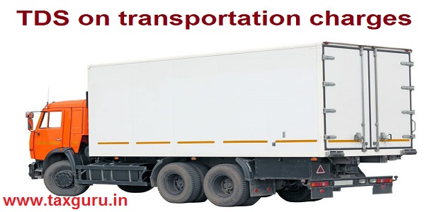 TDS - transportation charges