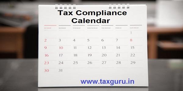 Tax Compliance Calendar