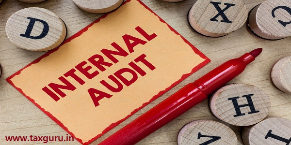 Text sign showing Internal Audit