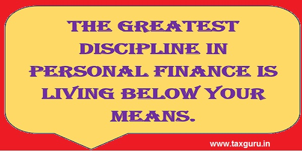 The Greatest discipline in personal Finace