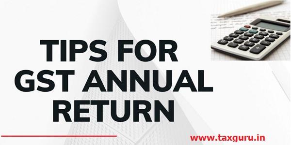 Tips for GST Annual Return