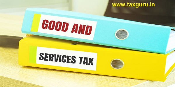 Two office folders with text GST Goods & Services Tax