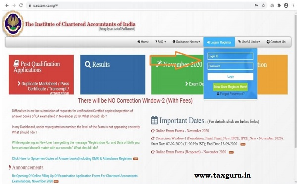 Admit Card for CA Image 1