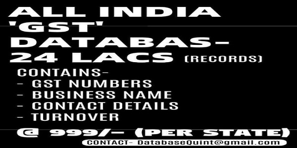 All India GST Database