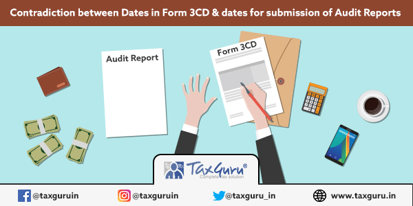 Audit Report and Form 3CD