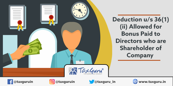 Bonus Paid to Directors who are Shareholder of Company