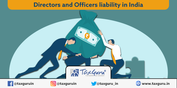 Directors and Officers liability in India