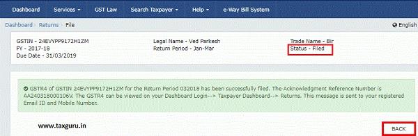 Form GSTR-4 - Quarterly Return 143