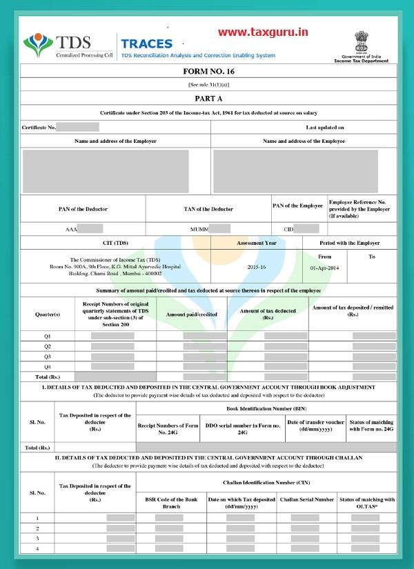 Form No.16