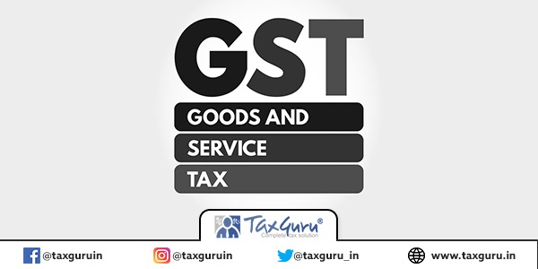 GST - Goods and Services Tax acronym, business concept background