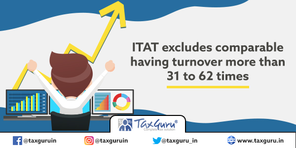 ITAT excludes comparable having turnover more than 31 to 62 times