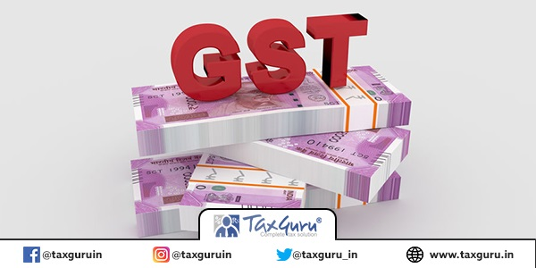 Indian Goods and Services Tax GST concept made with 3d rendering.