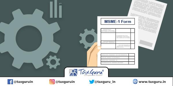 MSME -1 Form