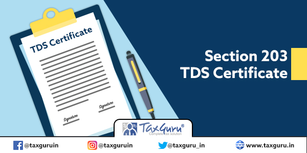Section 203 TDS Certificate
