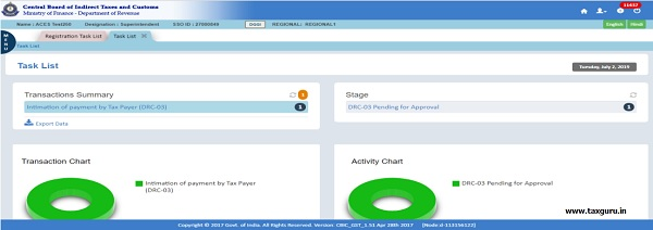 Step8-Login with SSO ID of DGGI Superintendent