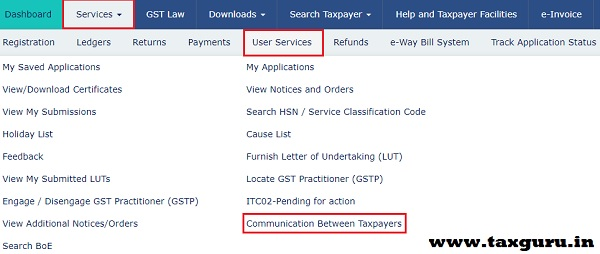 Communication between Recipient and Supplier Taxpayers Image 1